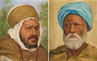 portraits d'arabe (2 works) by maurice assus