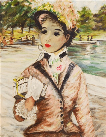 Young lady in Central Park, 1957