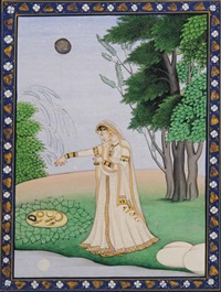 an illustration to a nayika series: vipralabdha nayika by anonymous-indian (19)