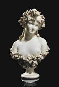 bust of flora by pietro calvi