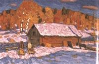 première neige en automne by vladimir bobrov