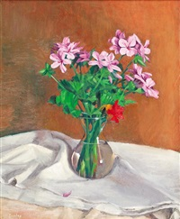 still life with flowers by brian james dunlop