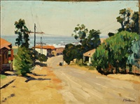 a street in laguna beach, calif. by ferdinand kaufmann