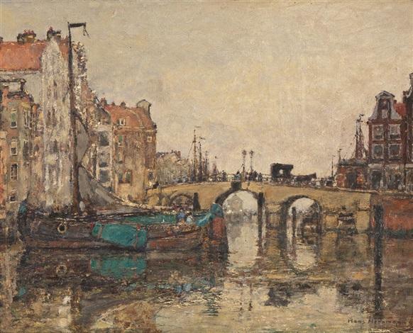 holländische grachtenansicht by hans herrmann