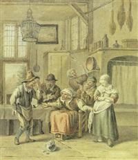 a domestic interior by vincent jans van der vinne