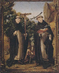 saints dominic and peter martyr in a landscape by portuguese school (16)