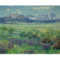 owens river, sierra nevada, california by guy rose