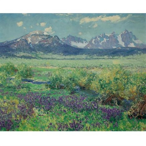 owens river sierra nevada california by guy rose