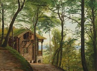 log cabin in funder bakker by christian peder mørch zacho