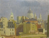 london skyline near st. pauls by william townsend
