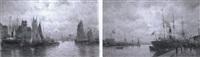 le port de rouen (+ le port d'honfleur; pair) by amélie burdin