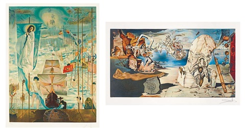 阿波羅歷險 the adventures of apollo set of 2 by salvador dalí