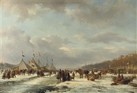 festivities on the ice by frans breuhaus de groot