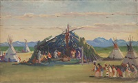 blackfoot indian ceremony by kathryn woodman leighton