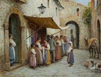spanish street scenes (pair) by arthur trevor haddon