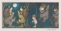 four prints from where the wild things are (set of 4) by maurice sendak
