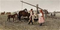 meeting by the well by jaroslav friedrich julius vesin