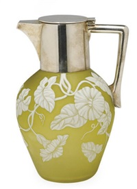 pitcher with hinged cover by thomas webb