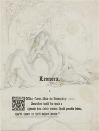 illustration to bunzer's leonora by daniel maclise