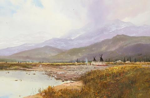 land of many waters by thomas kinkade