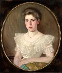 retrato de joven dama by fernando alvarez de sotomayor y zaragoza
