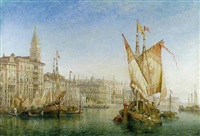 the doge's palace from the entrance to the grand canal by william wilde