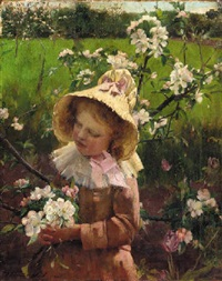 the blossom picker by thomas hill