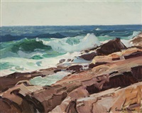 sea near rockport, mass. by frank harmon myers