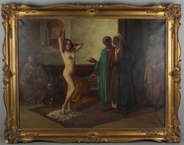 orientalen mit weiblicher sklavin by eduard ansen hofmann