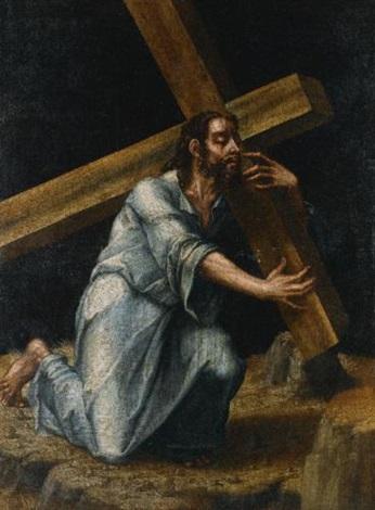 christ carrying the cross by luis de morales on artnet