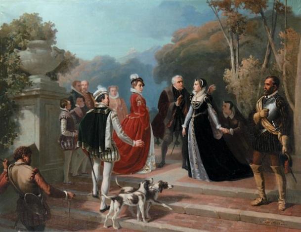 la rencontre de marie stuart et delisabeth ière dangleterre by alphonse honein