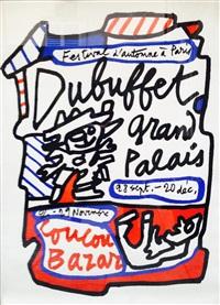 lithographie originale pour l'exposition coucou bazar by jean dubuffet