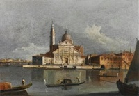 venice, a view of san giorgio maggiore from across the bacino by francesco tironi