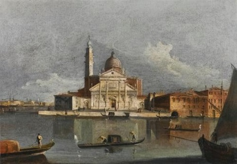 venice a view of san giorgio maggiore from across the bacino by francesco tironi