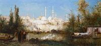 view of istanbul by pierre (henri théodore) tetar van elven