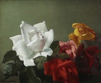 five roses, still life by patrick hennessy