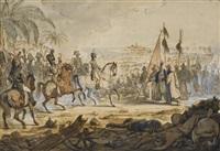 napoléon 1er à la bataille d'aboukir by louis françois lejeune