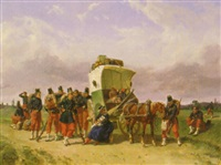 pause of the family cart by adolphe gandon