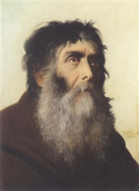 portrait of a franciscan monk with a beard by francisco peralta del campo
