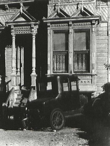 car and victorian house san francisco by william h abbenseth