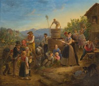 weinfest in stuttgart by johann georg adam gottlob gutekunst