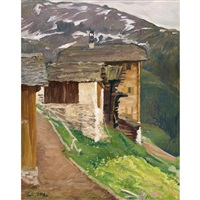 chandolin (valais). automne by edmond bille