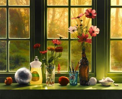 an artist's windowsill by scott prior