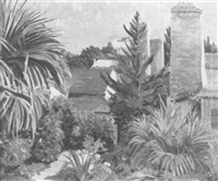 tropical garden in bermuda by william edwin atwood