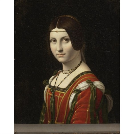 portrait of a woman la belle ferronnière by leonardo da vinci