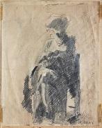 figura seduta by mario sironi