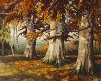 autumn landscape by mabel young