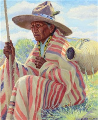 chief trout, pueblo indian by henry balink