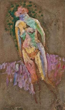 ebauche de femme nue au soleil by henri edmond cross