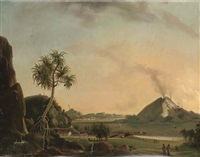 landscapes in the dutch east indies (2 works) by charles legrain